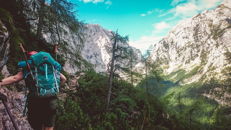 Backpack afstellen Slovenië Triglav