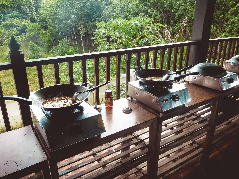 Het uitzicht tijdens onze kookworkshop