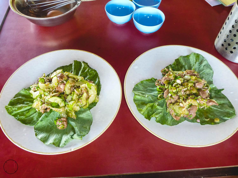 Kookworkshop op reis Thaise beef salade