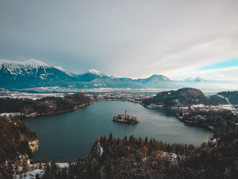 Slovenië in de winter - meer Bled
