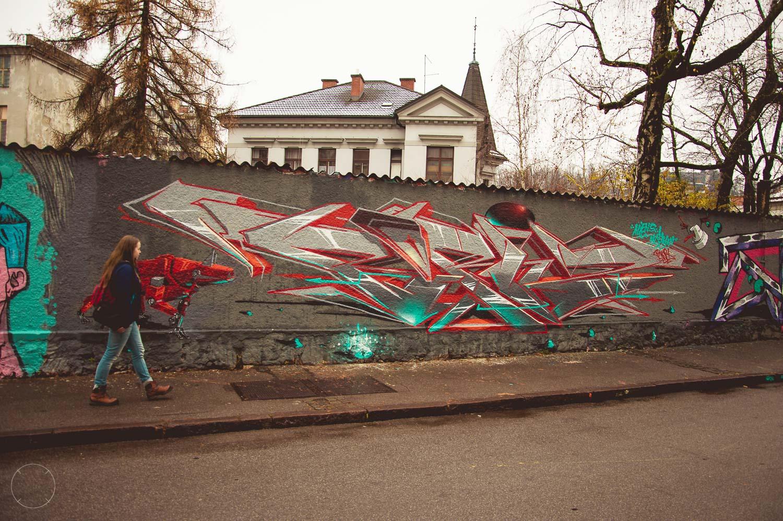 Streetart op Trubarjeva Cesta