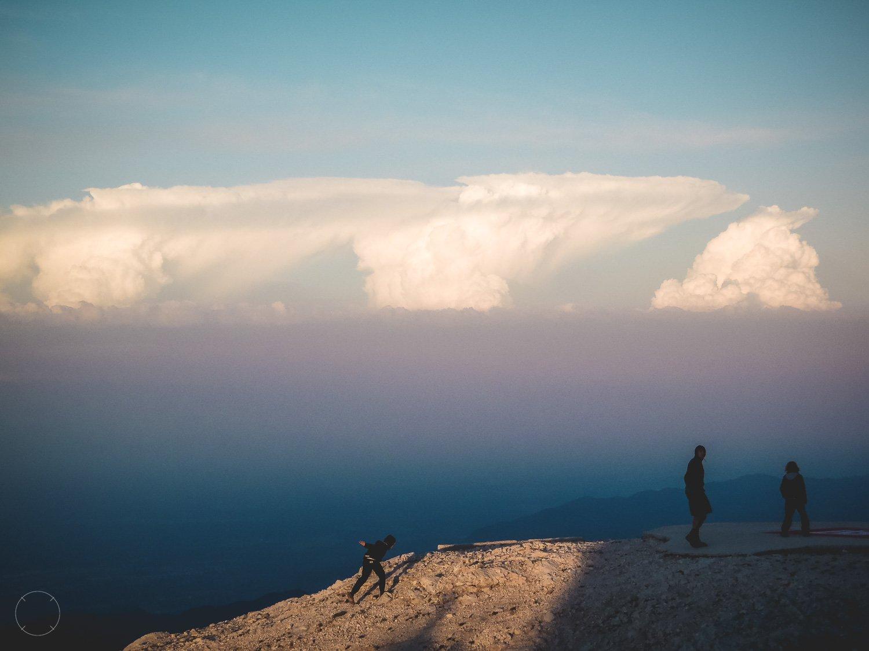 Bergwandelen - slecht weer op komst