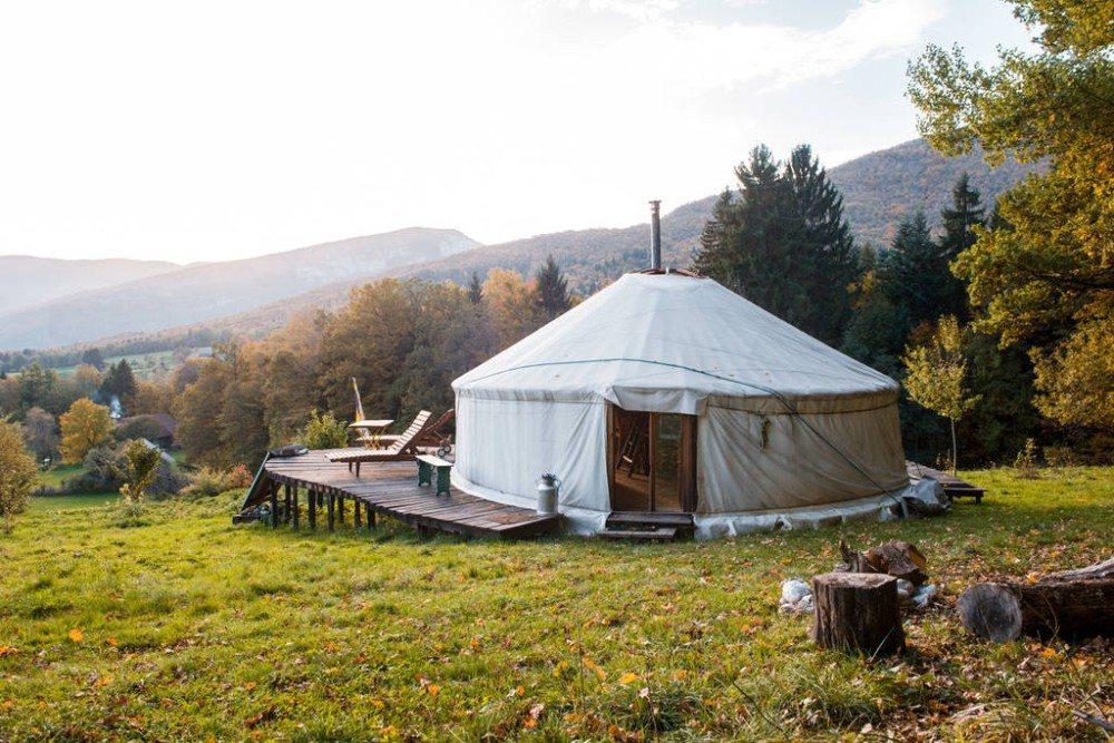 Goedkope airbnb hotspots - Yurt in Frankrijk