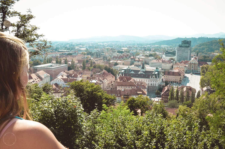 Uitzicht over de stad vanaf het kasteel
