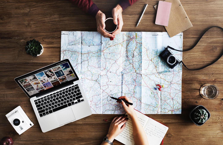 Een wereldreis plannen
