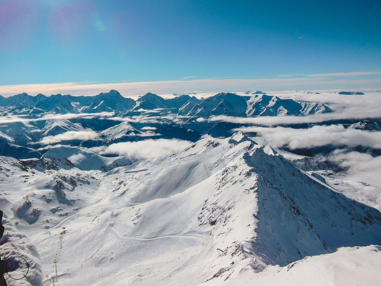 Prachtige uitzichten in skigebied Alpe d'Huez
