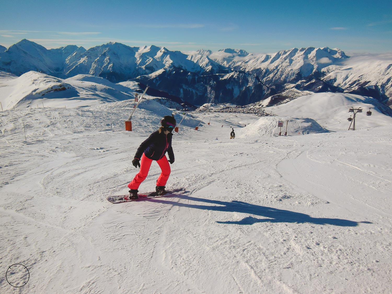 Uitzicht tijdens het snowboarden