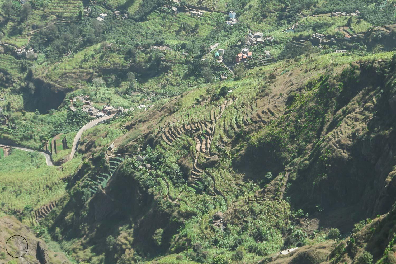 De terrassen zie je overal op Santo Antão