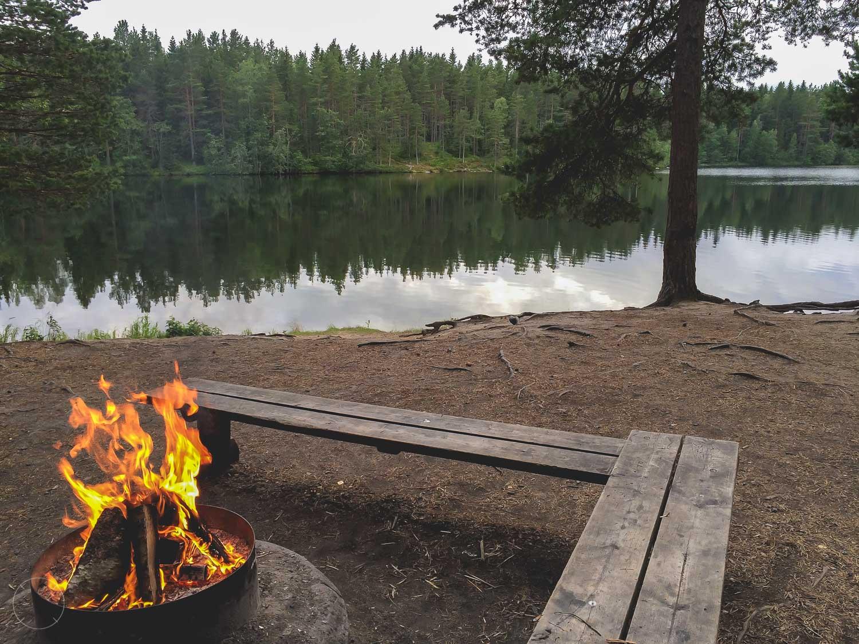 Een overnachtingsplek in Zweden