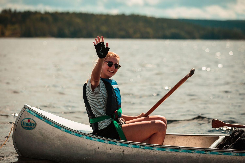 Fun in een kano in Zweden
