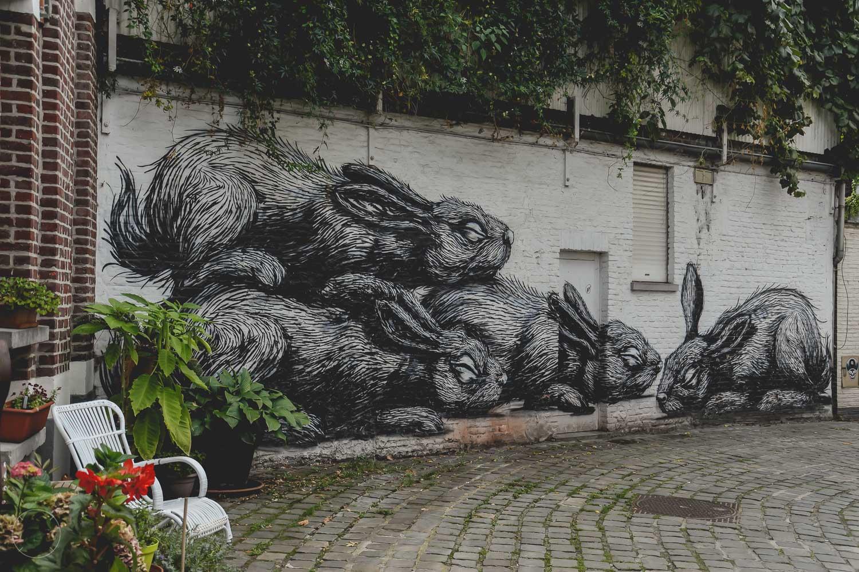 Indrukwekkende streetart in Gent