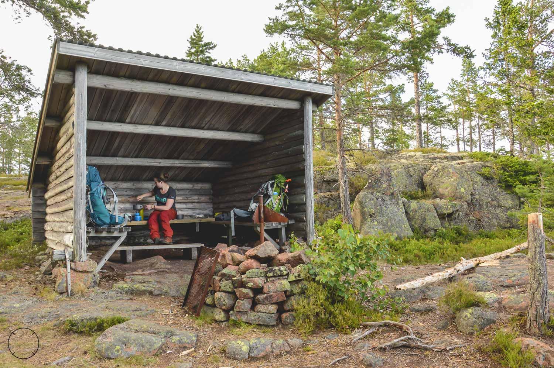 Schuilhutten in Zweden