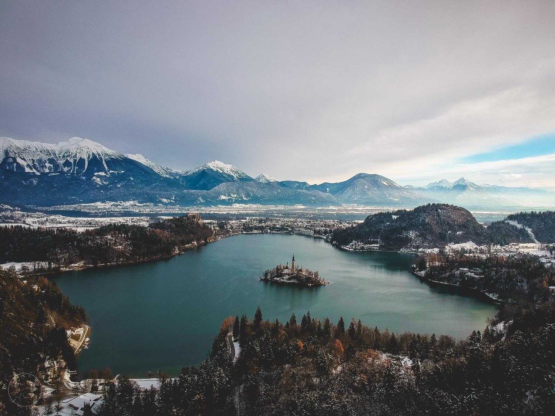 Slovenië in de winter - Meer van Bled