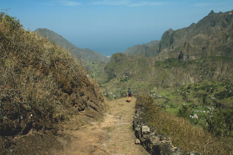 Uitzicht tijdens een wandeling op Santo Antão
