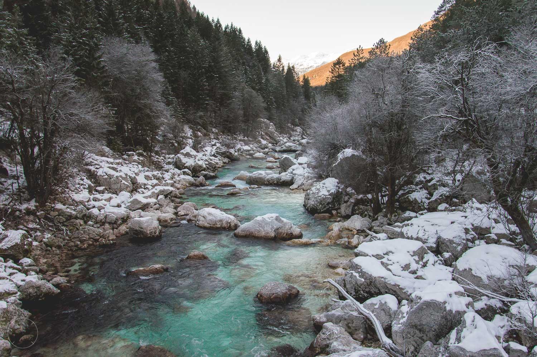 Winter in Slovenië - Soča