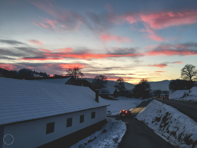 Zonsondergang in Slovenië