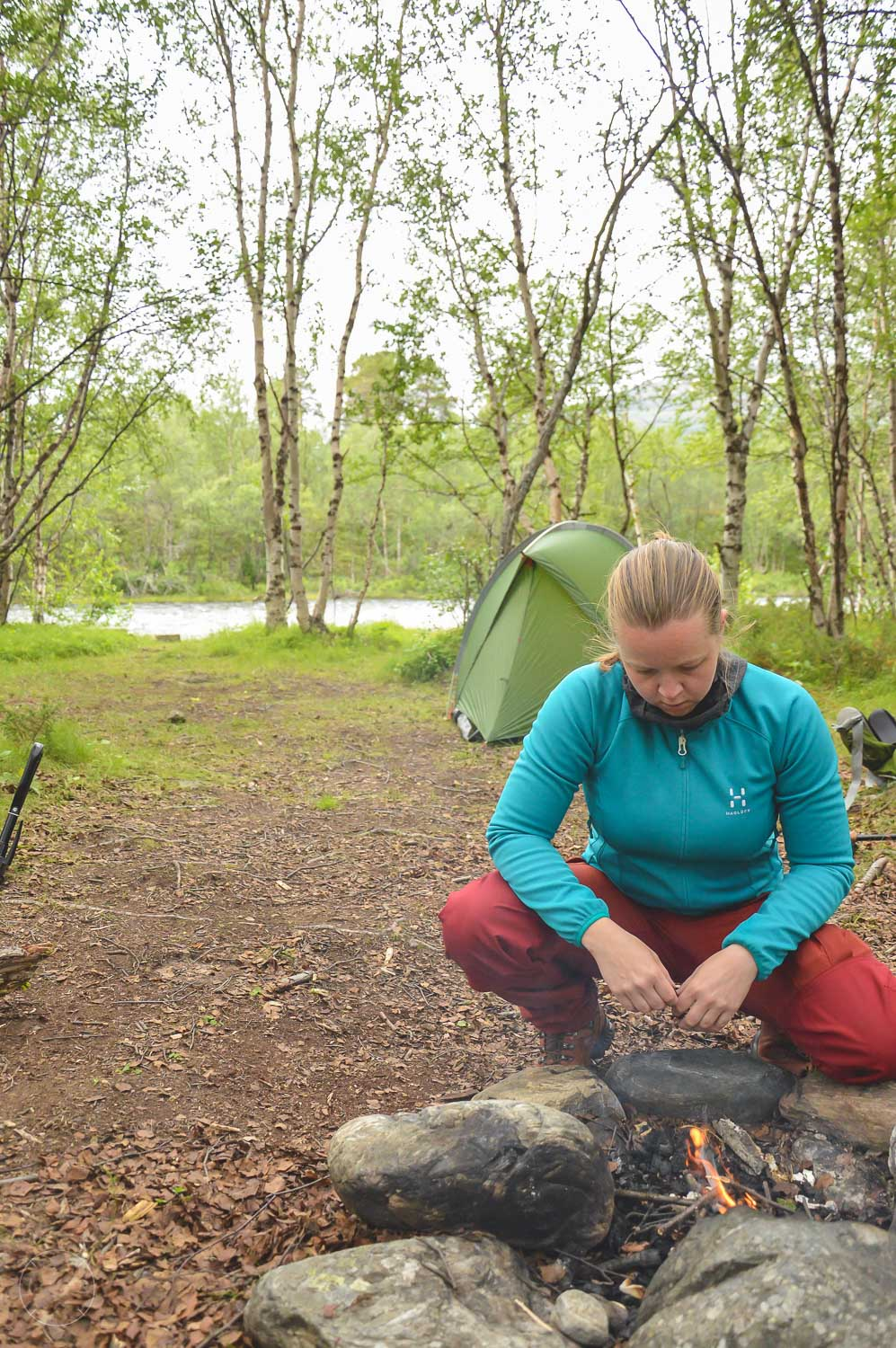 Making a fire on your wild camping trip