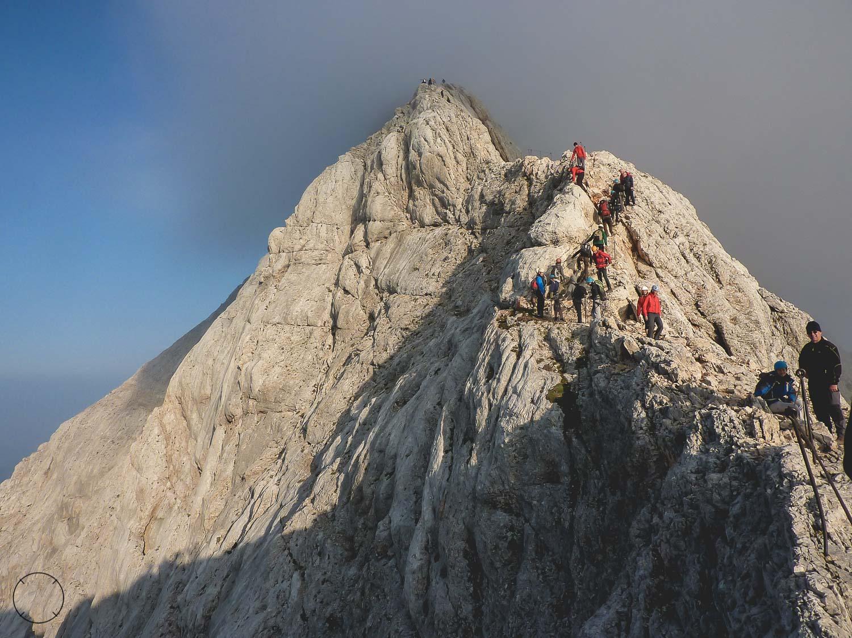 De weg naar de top van de Triglav