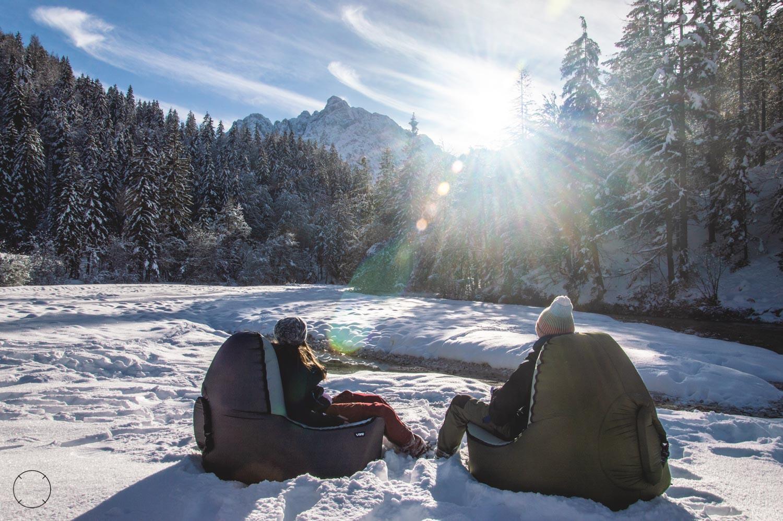 Op een Trono in de sneeuw
