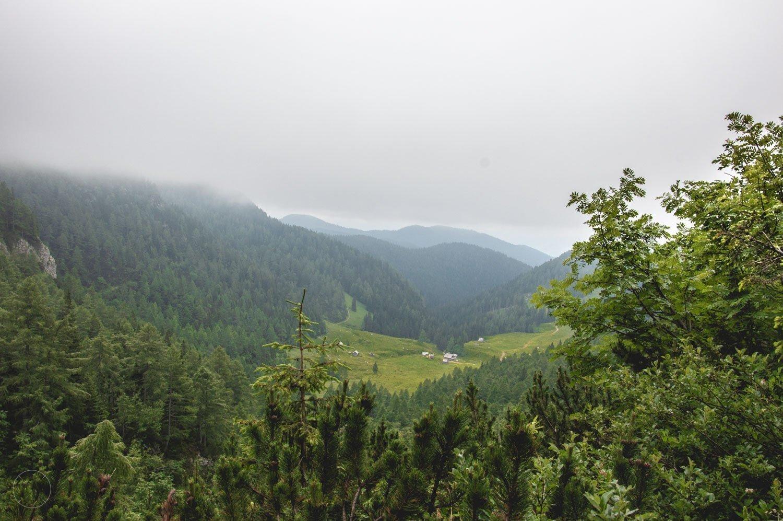 De vallei aan het einde van de hike