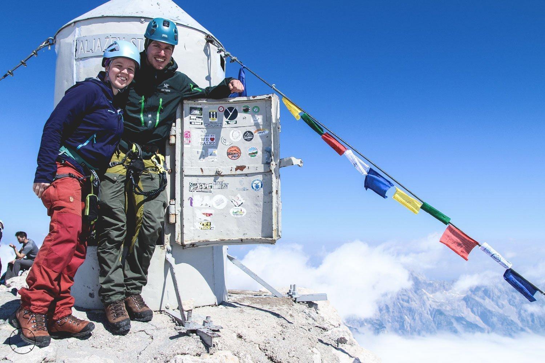 Dutchies Abroad op de top van de Triglav