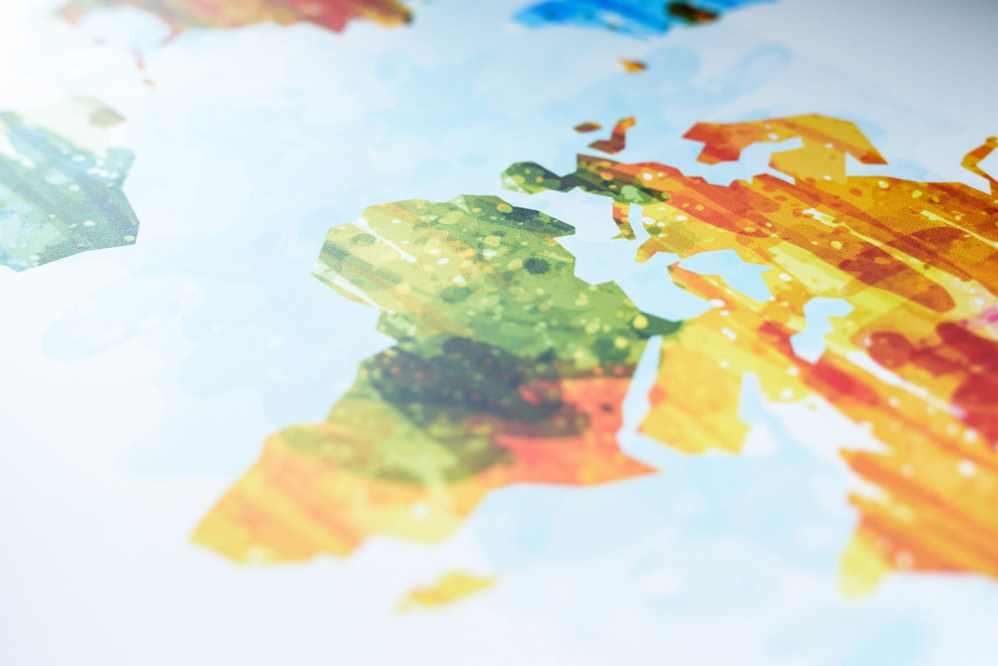 Wereldkaarten in huis