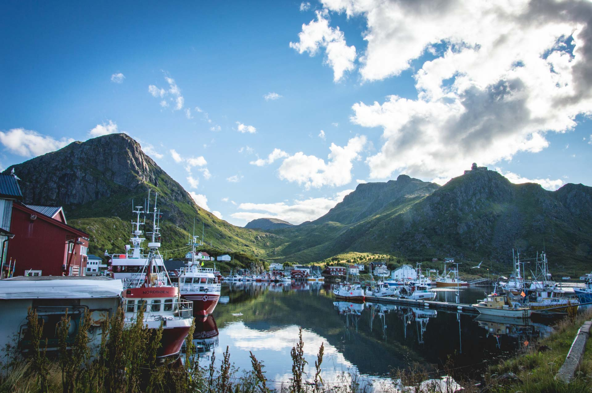 Het idyllische vissersdorpje Stø