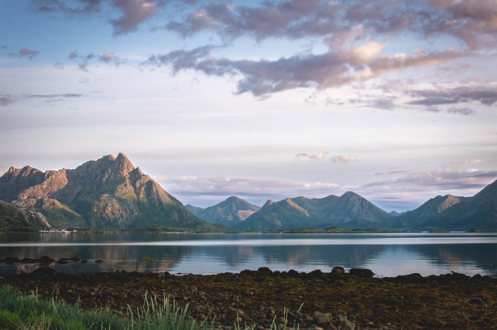 Indrukwekkende bergen op de Vesterålen