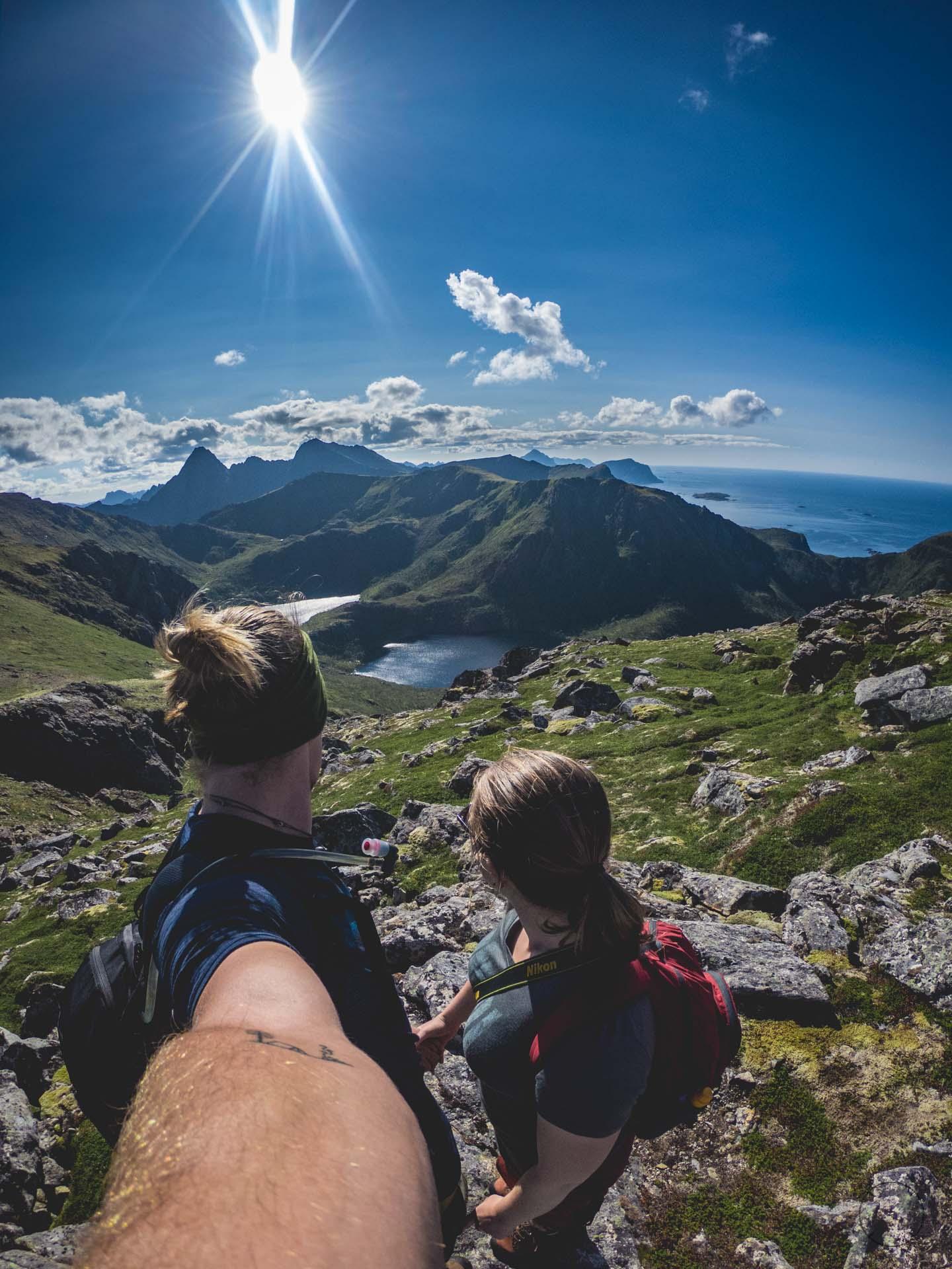 Uitzicht tijdens de mooiste hike van Noorwegen