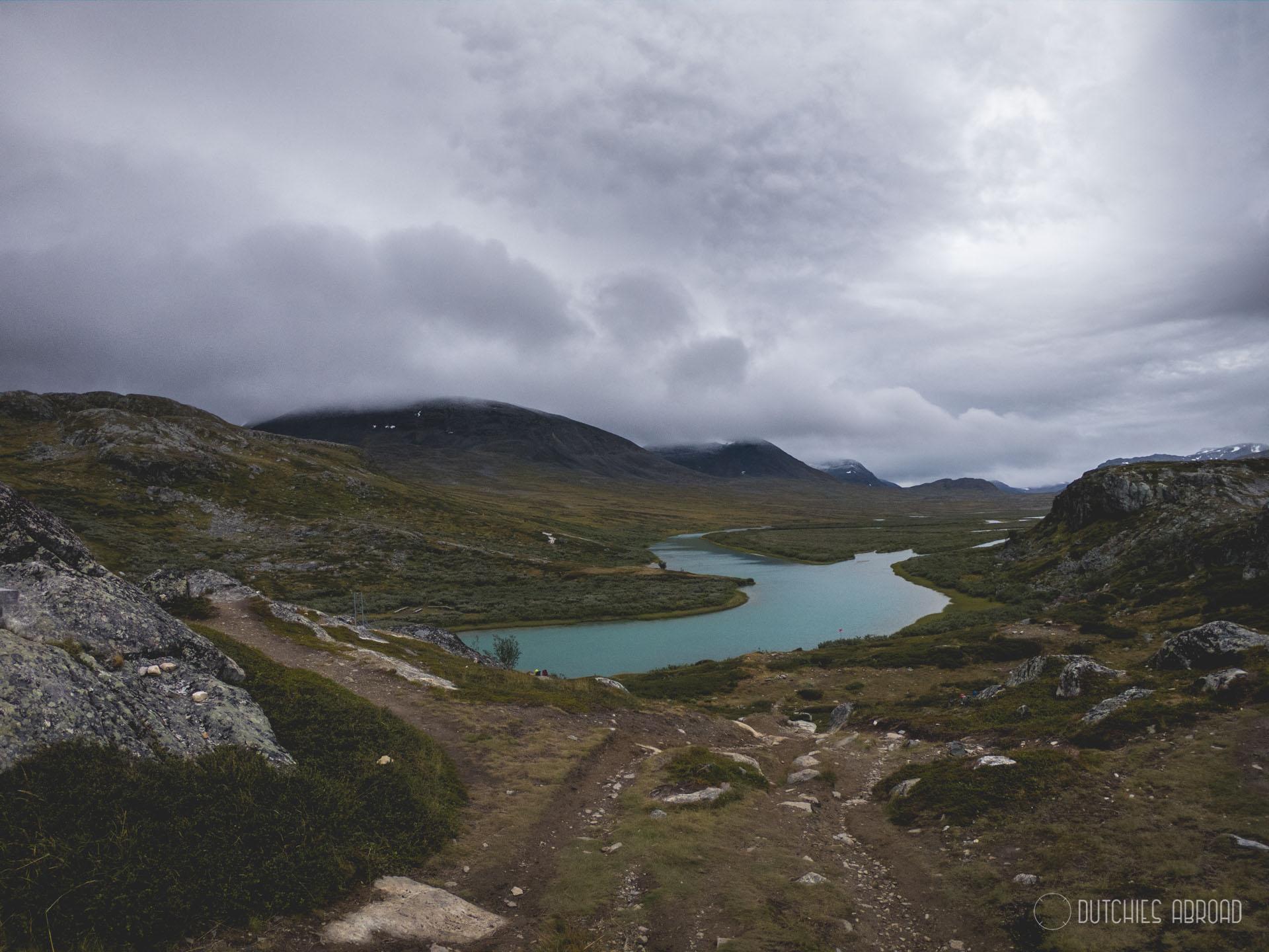 Uitzicht vanaf Alesjaure hut