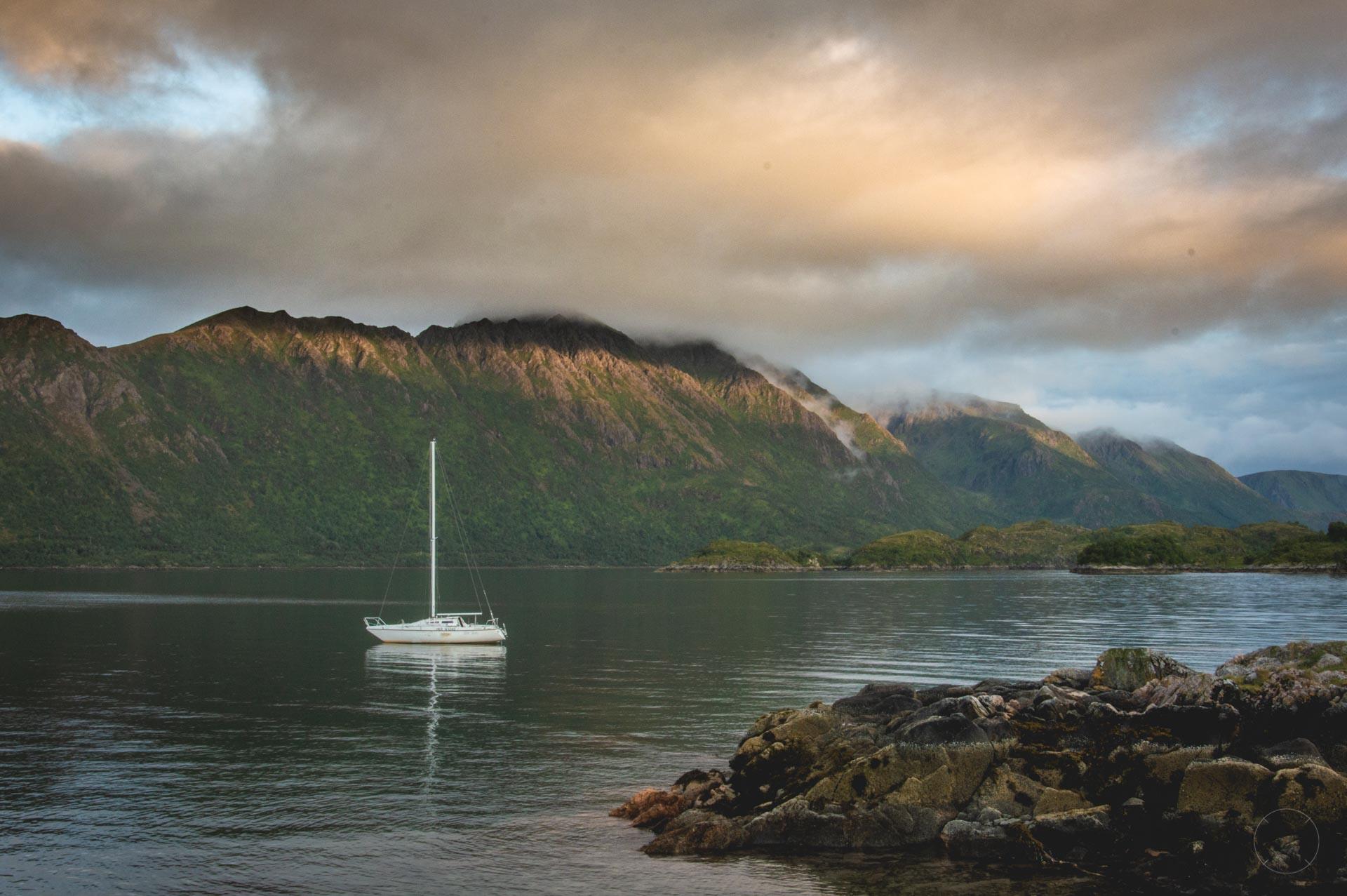 Zonsondergang op Langøya