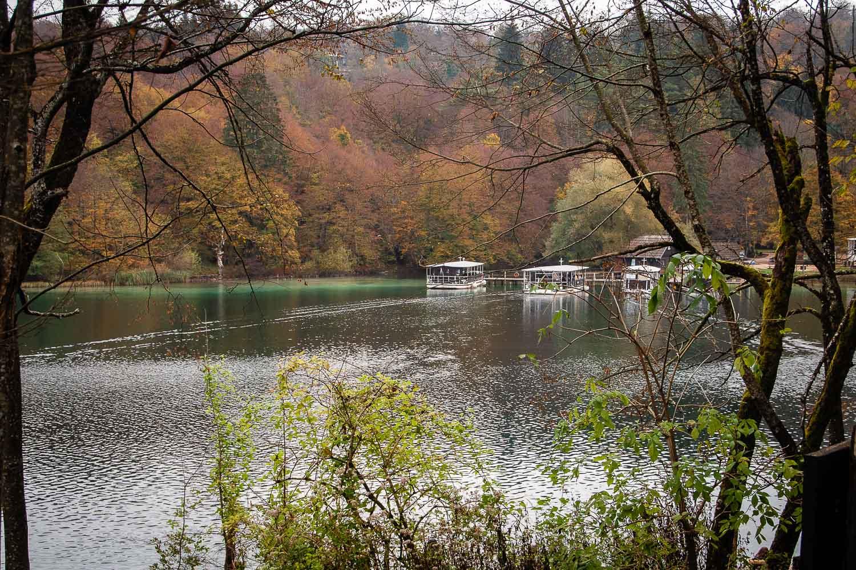 De bootjes in Plitvice national park