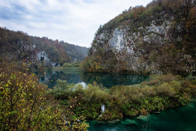 Plitvice lakes in de herfst