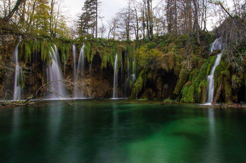 Prachtige watervallen in Plitvice NP