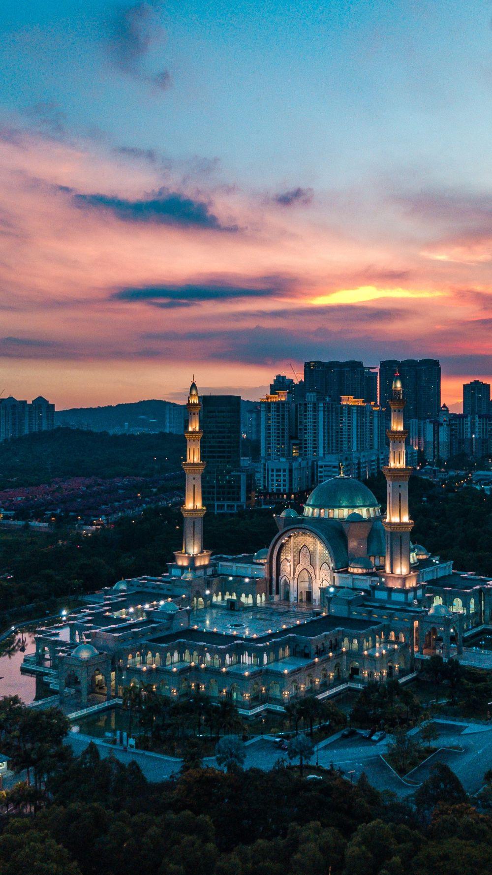 Droneshot Wilayah Mosque Kuala Lumpur