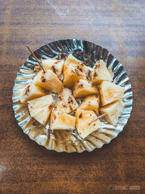 Pineapple dessert street food