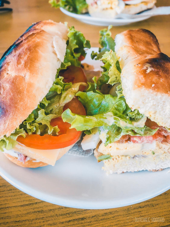 Tasty freshy baked sandwiches