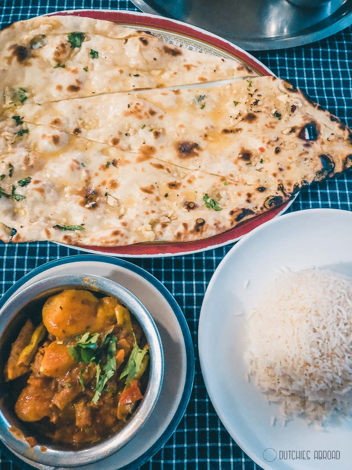 The best naan in Nepal - Almonds Cafe