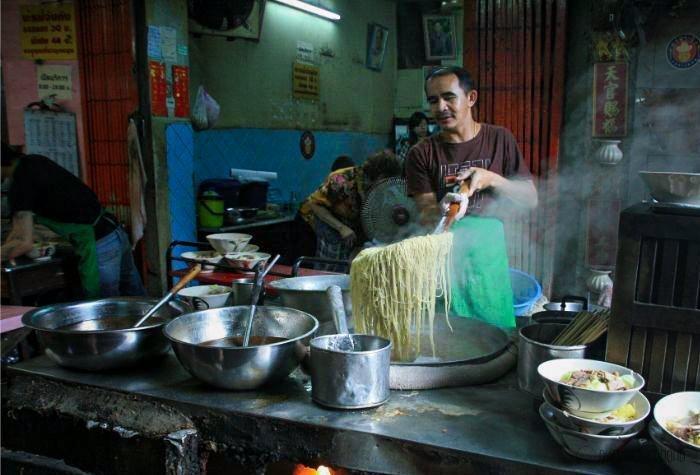 Eten in Chinatown Bangkok