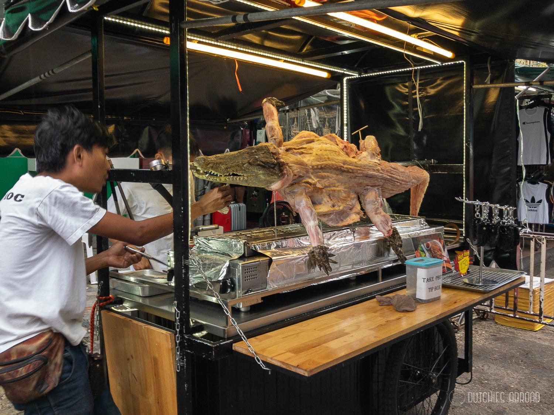 Vreemde soorten streetfood in Bangkok