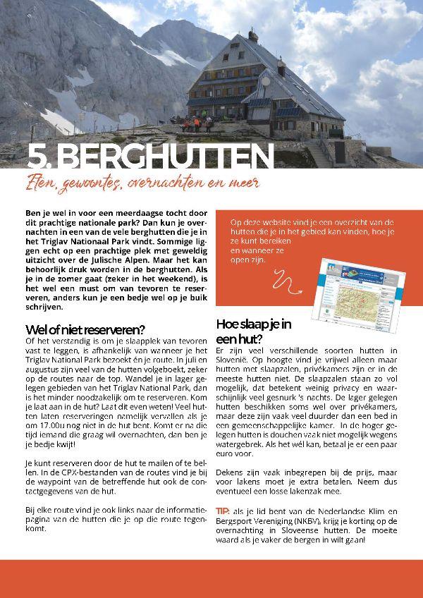 Triglav national park - ebook - Berghutten