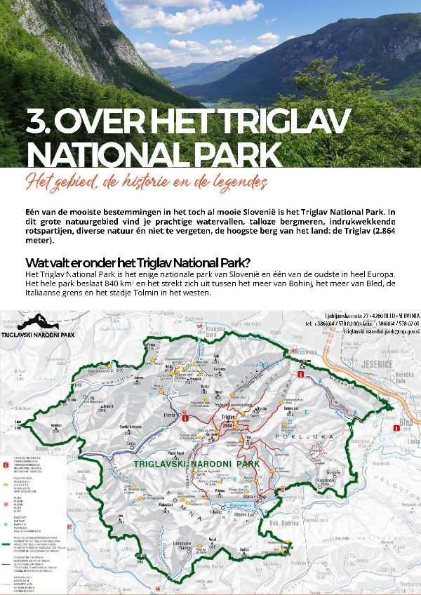 Triglav national park - ebook - Over het Triglav National Park