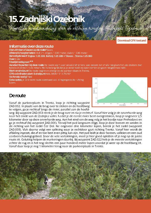 Triglav national park - ebook - Zadnjiski Ozebnik