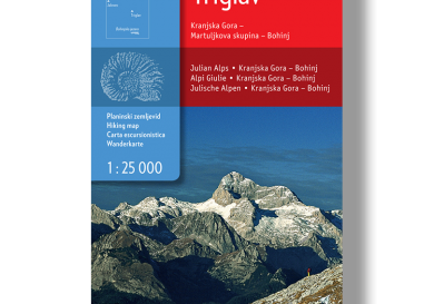 Wandelkaart Triglav - Slovenië - Sidarta