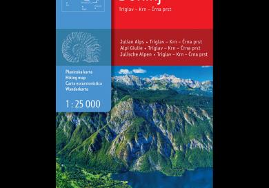 Wandelkaart Bohinj - Slovenië - Sidarta