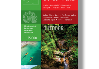 Outdoorkaart Bovec Trenta - Slovenië - Sidarta