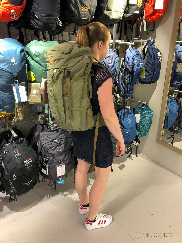 Een hike rugzak kopen - Fjallraven rugzak passen